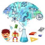 Niño aprendiendo robótica y ciencia